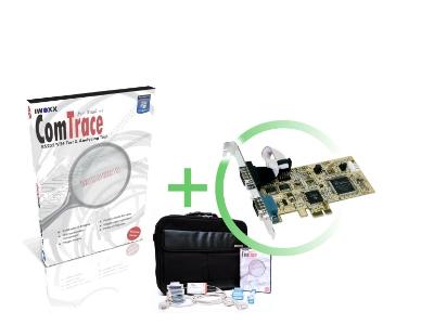 RS232 Analyser [PCIe] - Basic set plus 2xRS232 PCI plugin card